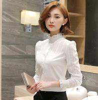 New 100% cotton Women White Shirts Butterfly sleeved Blouse Ruffled Collar female Summer Spring Fashion Tops