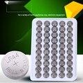 50 pcs AG13 LR44 DA Pilha Da Tecla Da Bateria De Lítio 1.5 v 160 mah lâmpada de Manganês Botão Celular Para Relógios relógios calculadora luz