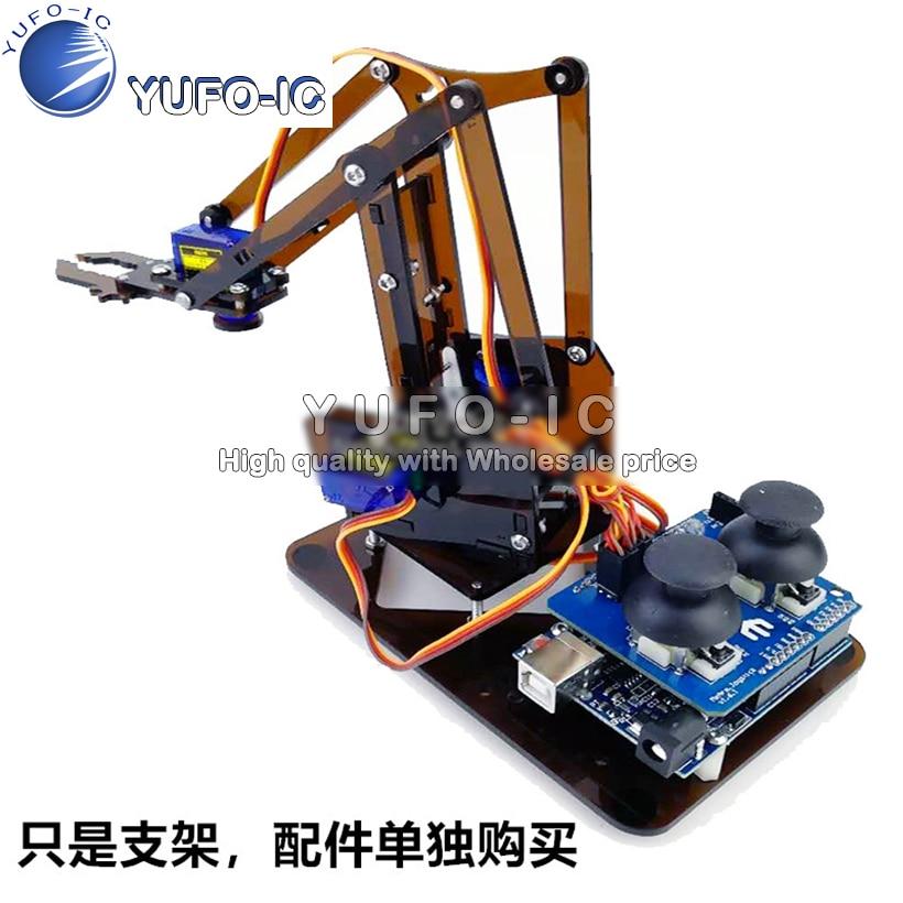 Манипулятор робот рука сделать электронные части UNO кабинет набор акриловый и вежливый 0,12 X|Интегральные схемы|   | АлиЭкспресс