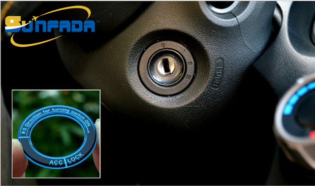 Sunfada Car Ignition Key Hole Switch Decoration Ring Sticker For Honda Fit 2nd 3rd Gen