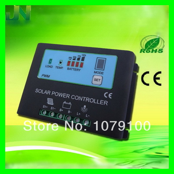 ФОТО New Style Metal Housing 12V/24V Automatic Identification Power Display mppt 20a charge controller