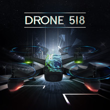 2018 GPS profesional RC drone JXD518 2.4G 4CH Wifi FPV Ketinggian tahan RC Drone quadcopter Dengan HD 720 P Kamera vs B2W X183 X16
