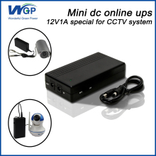 China mini ups manufacture 12v 1a lithium battery power supply ip camera use small size dc online for cctv system
