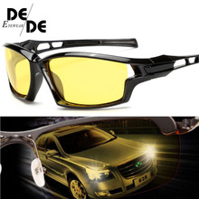 2019 New Night Vision Sunglasses Men Brand Designer Fashion Polarized Driving Enhanced Light At Rainy Cloudy Fog Day