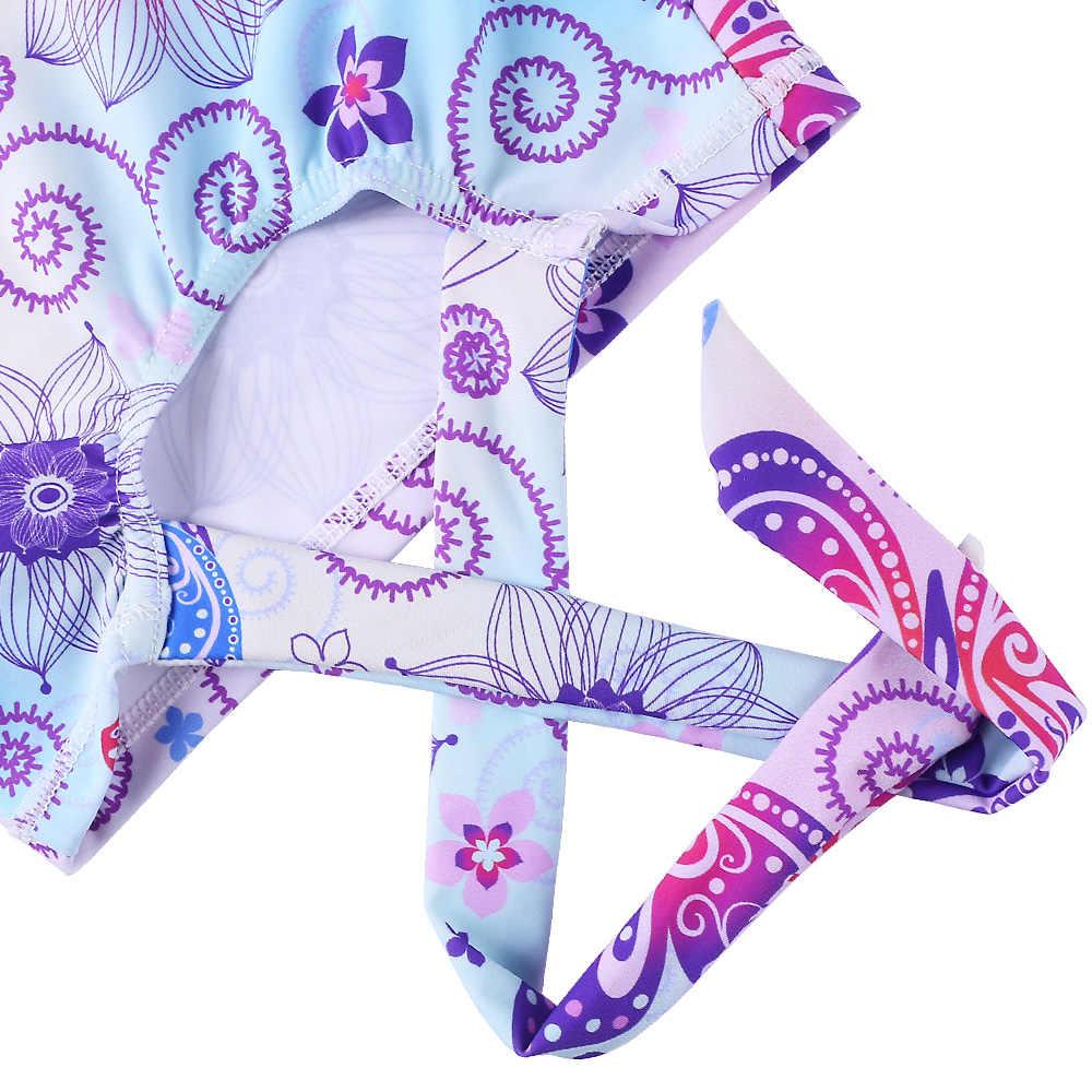BAOHULU/жилет с цветочным узором и бабочками Детские купальники для девочек, бикини, UPF50 + Купальник с длинным рукавом из двух частей для детей ванный комплект пляжная одежда