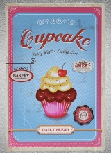 1 pc Bakery shop bread Cake cupcake chocolate black forrest  Tin Plate Sign plaques Man cave vintage Shop store metal poster 1 pc attitude bags store leather shop tin plate sign plaques man cave vintage shop store metal poster