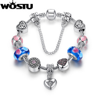 High Quality Romantic Forever Love Heart 925 Silver Charms Bead Fit Original Pandora Bracelet For Women