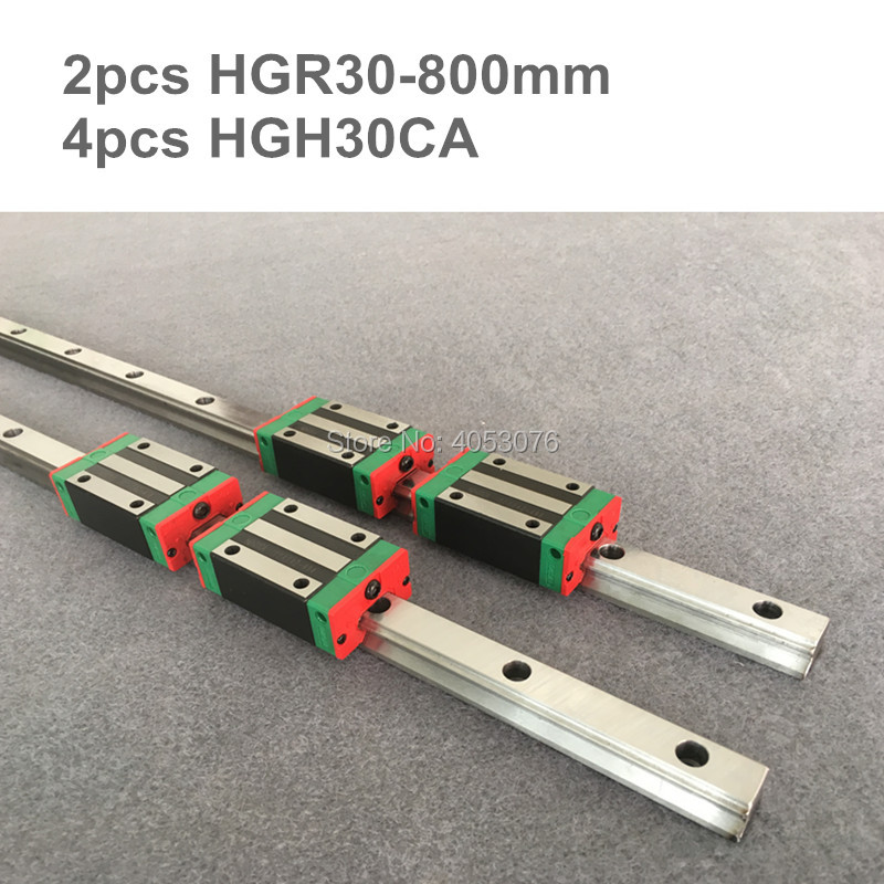 HGR original hiwin 2 pcs HIWIN linear guide HGR30- 800mm Linear rail with 4 pcs HGH30CA linear bearing blocks for CNC parts hgr original hiwin 2 pcs hiwin linear guide hgr30 450mm linear rail with 4 pcs hgh30ca linear bearing blocks for cnc parts