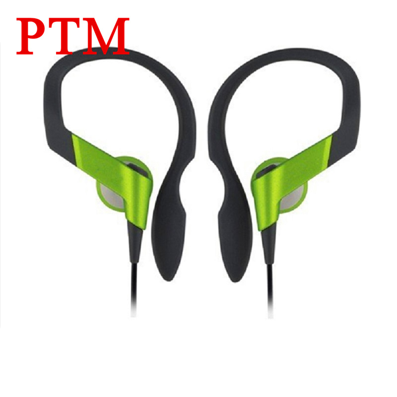 PTM HS33 Noise Canceling Earphone Headphones High Quality Portable Bass Ear Hook Sport Headset for iPhone xiaomi Phone MP3 MP4 phrodi pod600 original in ear bass earbud headphones hifi high quality noise canceling earphones with microphone for xiaomi ios