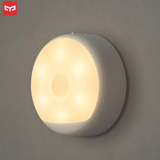 Original Yeelight veilleuse PIR mouvement et capteur de lumière USB Rechargeable pendable adhésif lampe magnétique 2700K éclairage