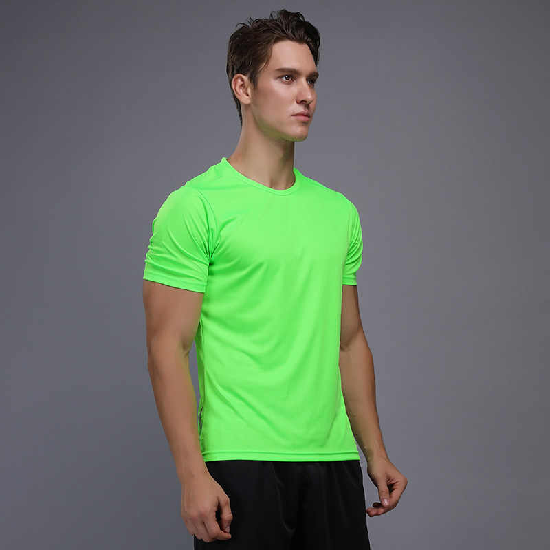 Gömlek Homme koşu erkekler tasarımcı hızlı kuru t-shirt koşu Slim Fit Tops Tees spor erkek spor salonu T Shirt kas Tee 2018