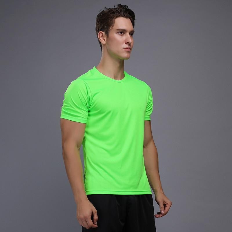 running - Shirt Homme Running Men Designer Quick Dry T-Shirts Running Slim Fit Tops Tees Sport Men 's Fitness Gym T Shirts Muscle Tee 2018