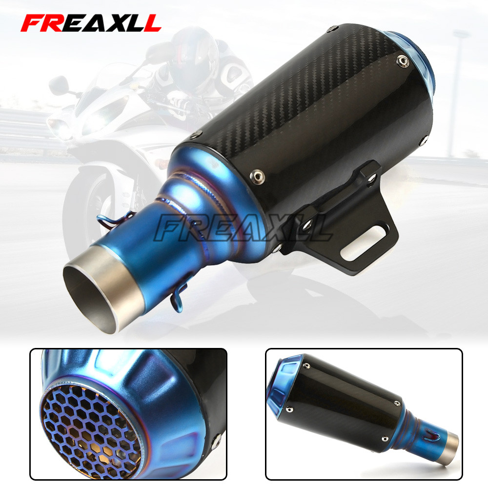 FOR bmw f650gs r1200rt <font><b>s1000xr</b></font> g310r F650GS F700GS F800GS/AdventuRe 36-51MM Motorcycle Universal <font><b>Exhaust</b></font> Pipe Muffler image