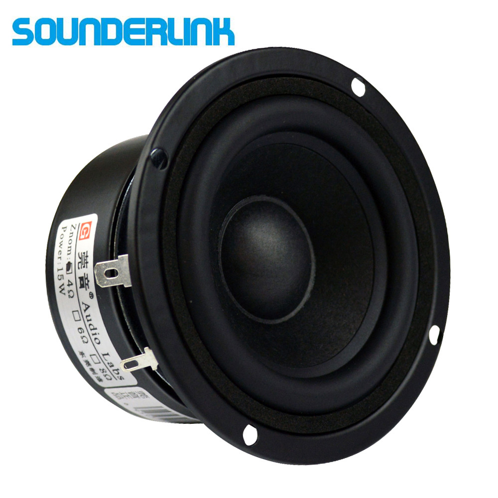 "2PCS/LOT Audio Labs 3"" HiFi Full Range Speakers Audio Monitor Home Theater Raw Tweeter Middle Subwoofer Driver Set 3 Inch Unit"