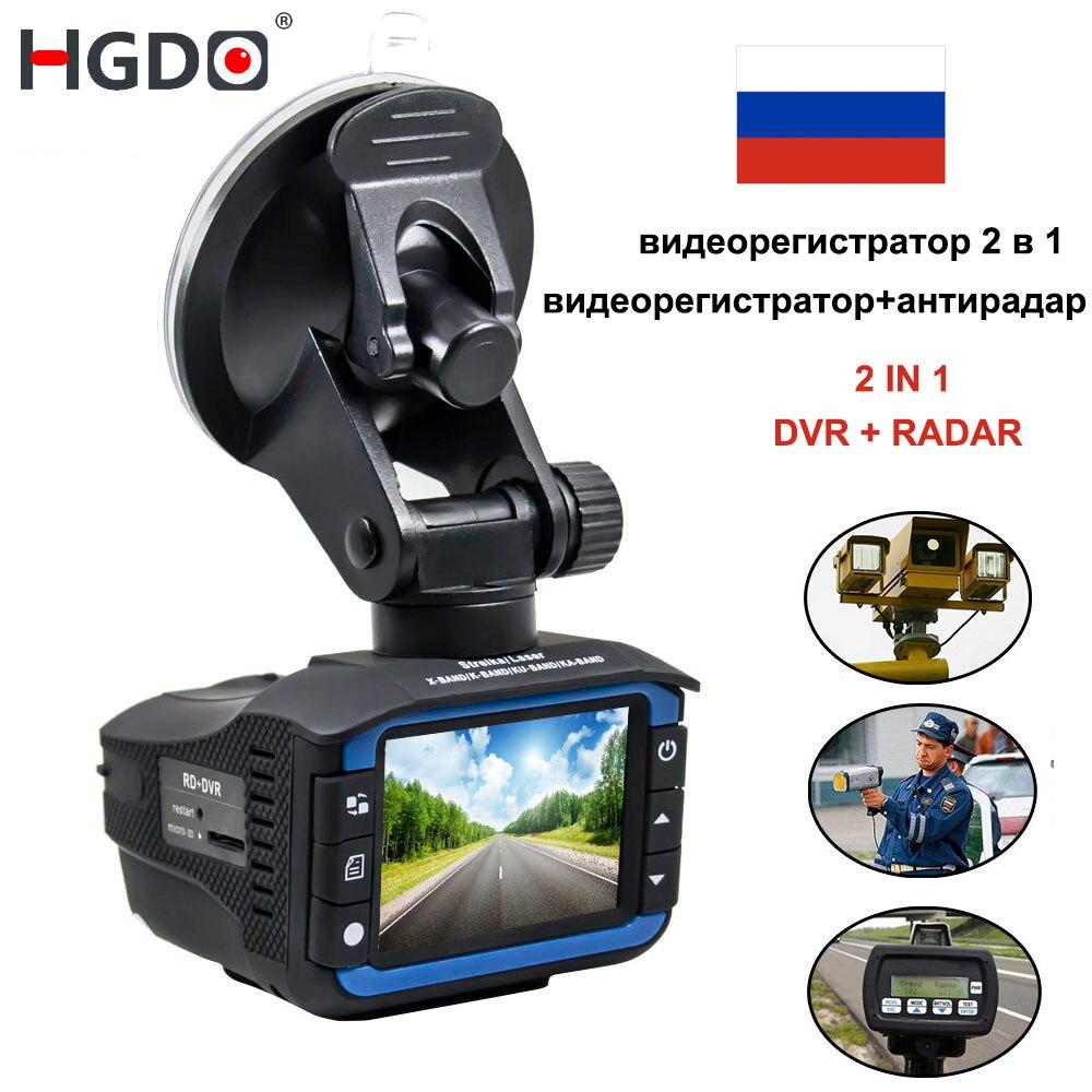 HGDO 2 Dans 1 Anti Laser Détecteur De Radar De Voiture Dash Cam Voiture DVR Caméra Enregistreur 140 Degrés Dashcam HD 720 p Anglais et Russe Voix