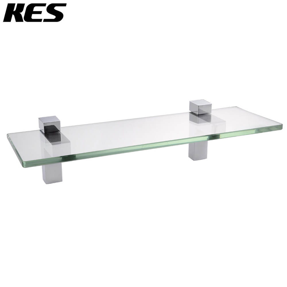 KES 14-Inch Bathroom Tempered Glass Shelf 8MM-Thick Wall Mount Rectangular, Polished Chrome/Brushed Nickel Bracket, BGS3201S35 laser protective safety glasses all round absorption red laser protection goggles safety comfortable eyewears glasses