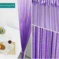 3 м * 3 м готовая штанга карманная струнная занавеска  занавески  декоративные перегородки для двери  прозрачная панель для гостиной