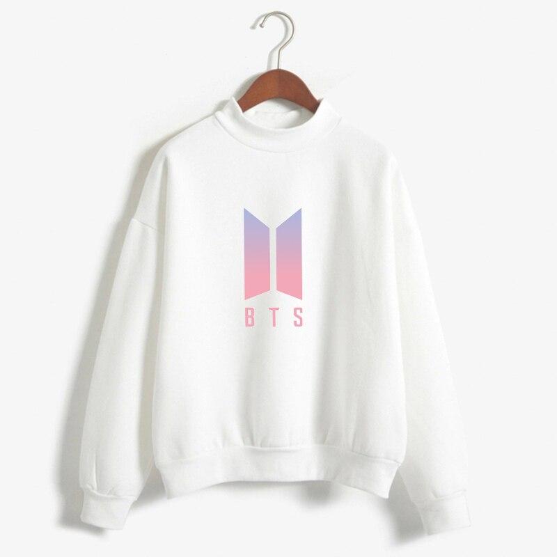 Women BTS Hoodies Bangtan Boys Love Yourself Album Print Sweatshirt Women Pullovers Kpop Korean Style Casual Sudadera Mujer