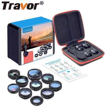 TRAVOR Phone Lens Kit Kaleidoscope+2X telescope Lens Fisheye Lens Wide Angle macro Lens CPL Filter For iphone Xiaomi Samsung - DISCOUNT ITEM  19% OFF All Category
