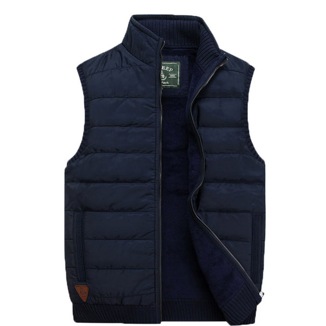 Free Shipping 2017 Fashion Brand New Winter Men's Fashion Casual Vest Men's Vest Warm Thick Down Jacket Vest WN 140