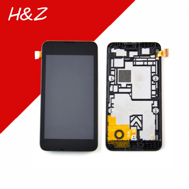 For Nokia lumia 530 lcd display +touch screen digitizer assembly with frame