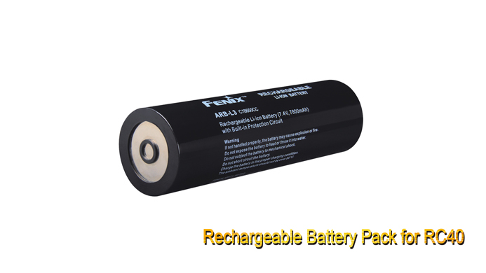 1 PCS Fenix RC40 Rechargeable Battery Pack fenix uc02 rechargeable black