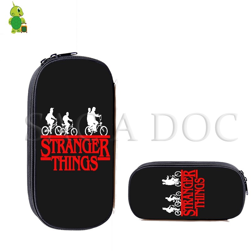 New Fashion Stranger Things Pencil Bags Makeup Bag Teenage Boys Girls Cosmetic Cases Kids School Supplies Stationery Storage Bag