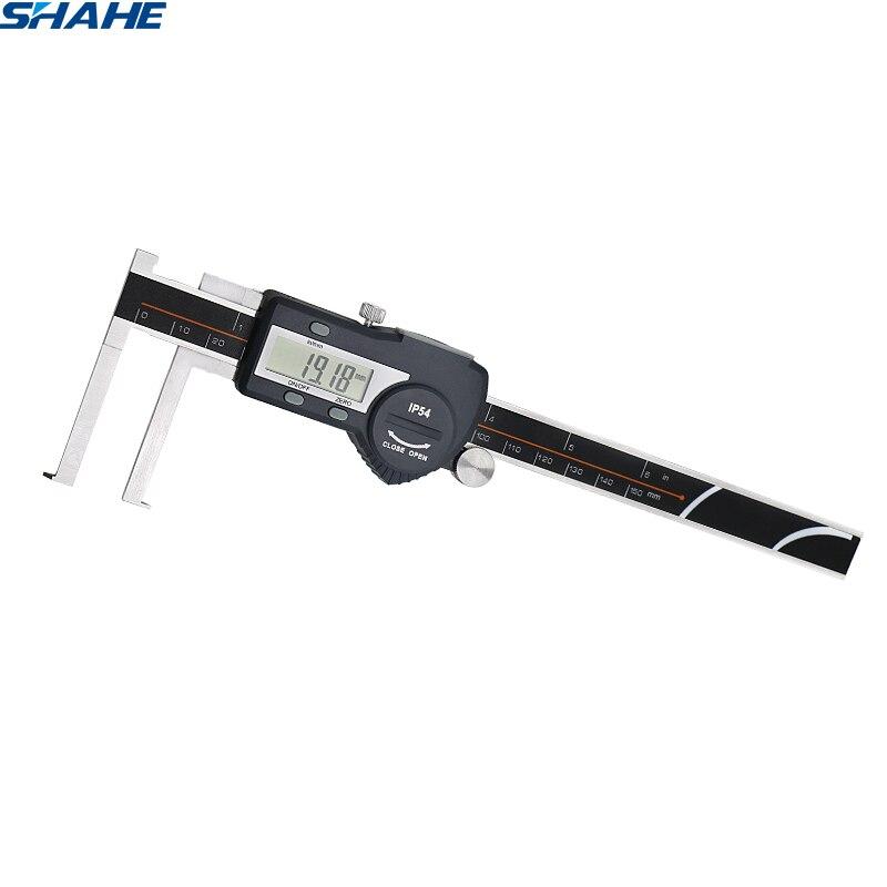 Paquímetro eletrônico interno do sulco de digitas de 8-150mm shahe com a pinça digital do vernier do micrômetro da borda da faca