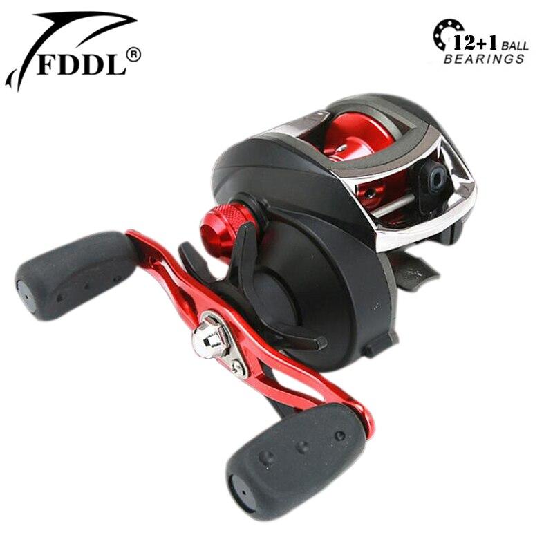 FDDL Magnetic Brake System Left Right Hand Baitcasting Fishing Reel 8KG Max Drag 12+1 BBs 8.1:1 High Speed Fishing Reel