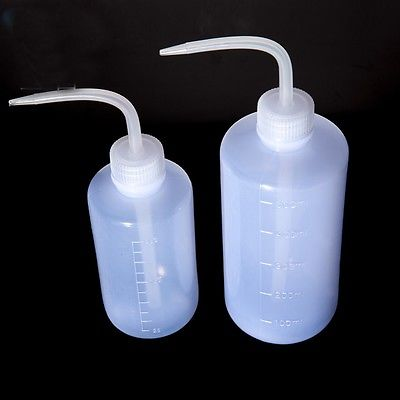 250ml Plastic LDPE Laborotary Tattoo Wash Squeezy Measuring Bottle For Lab Use