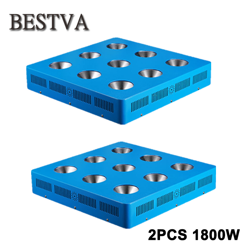 2PCS Full Spectrum COB LED Grow Light for Indoor Plant Vegetative Flowering, 1800W plant led grow light COB for hydroponics 200w 1715red 294blue high power led grow light for medical flower plant and indoor hydroponics vegetative full spectrum grow box