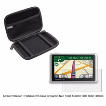 """5"""" Inche Automobile Moveable Shield bag+Clear Display screen Protector Protect Movie for Garmin Nuvi 1450 1450t 1450lmt 1490 1490t 1490lmt"""