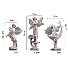 Room Decoration Accessories 3 Style Resin Angel Figurine Modern Fairy Statue Beautiful Sculpture With Wings Souvenirs Gray