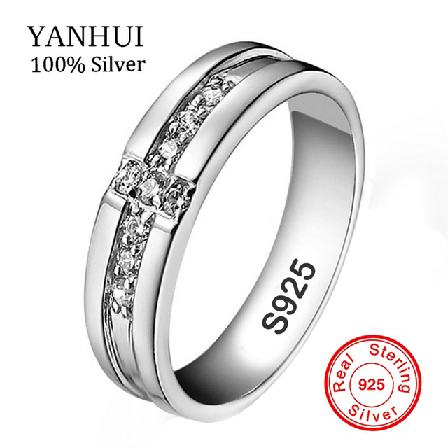 100 Real 925 Silver Cross Rings Set CZ Diamant Engagement Rings for