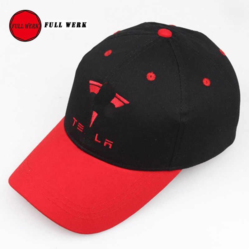 76fd0c6af72 Adjustment Embroidery Cap Creative Cotton Baseball Hat with Logo Man Woman  for Tesla Model S Model