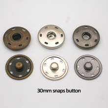 Wholesale Free shipping 24sets / lot 30mm big large metal brass sew on press button snap button fasteners SF-023