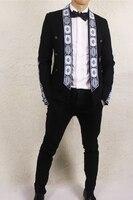 luxury mens embroidery tuxedo jacket/stage performance jaceket/bar/studio/dance jacket/ASIA SIZE