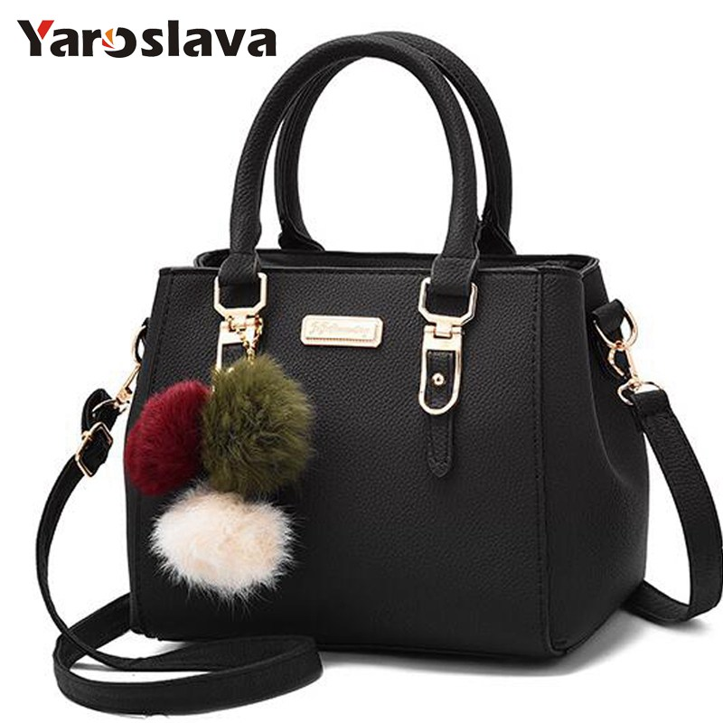 2018 women hairball ornaments totes solid sequined handbag hotsale party purse ladies messenger crossbody shoulder bags   LL410