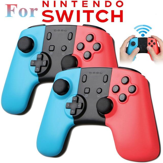 EastVita 2pcs Wireless Bluetooth Gamepad Pro Remote Controller Joystick Gamepads For Nintend Switch 16.3*11.2*5.5cm