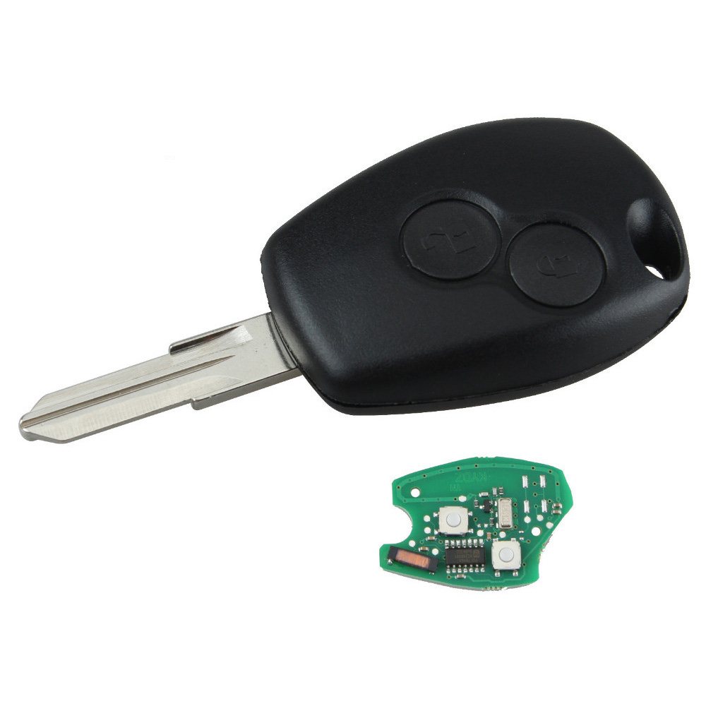 replacement car key fit for renault kangoo 2003 2008 with chip 7946 uncut remote key fob 2 buttons 433mhz pcf7946 car key p28 [ 1000 x 1000 Pixel ]