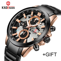 KADEMAN Top Luxury Brand Watches Men Fashion Sport Quartz 24 Hours Date Watch Man Military Waterproof Clock Relogio Masculino