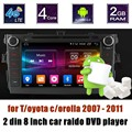 Para T/oyota c/orolla 2007-2011 Android 6.0 GPS Rádio Do Carro DVD Player Multimídia tela Espelhamento 2 din 8 polegada