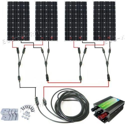 600Watts COMPLETE KIT: 600W Photovoltaic Solar Panel 24V system RV Boat 4*150W with controller , cables, mountings 300w solar system complete kit 3pcs 100w photovoltaic pv solar panel system solar module for rv boat car home solar system