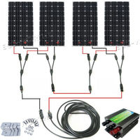 600Watts COMPLETE KIT: 600W Photovoltaic Solar Panel 24V system RV Boat 4*150W with controller , cables, mountings
