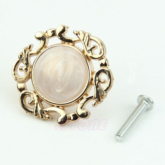 Aliexpress.com : Buy F85 Gold Single Knobs Vintage Resin Door ...
