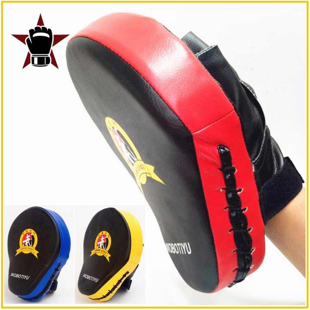 Kualitas Tangan Target MMA Bela Diri Thai Kick Pad Kit Hitam Karate Pelatihan Mitt Fokus Punch Bantalan Perdebatan Tinju Tas