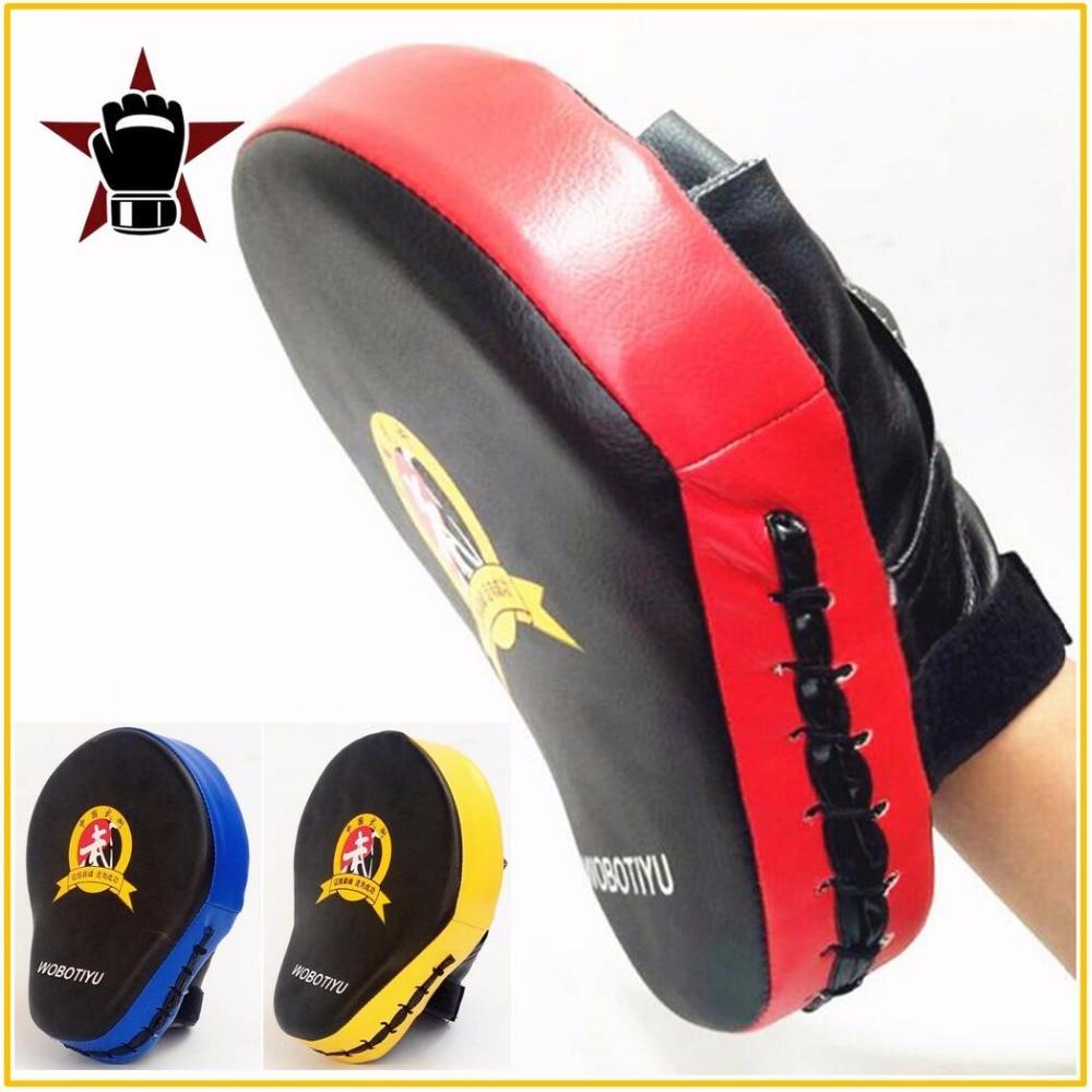 Mano de calidad objetivo MMA artes marciales tailandés tiro Pad Kit negro entrenamiento de Karate Mitt se ponche almohadillas de entrenamiento bolsas de boxeo