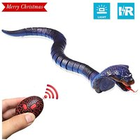 Snake RC Toys for Kids Infrared RC Remote Control Chargeable RC Toy with Retractable Tongue and Swinging Tail for Children Gifts