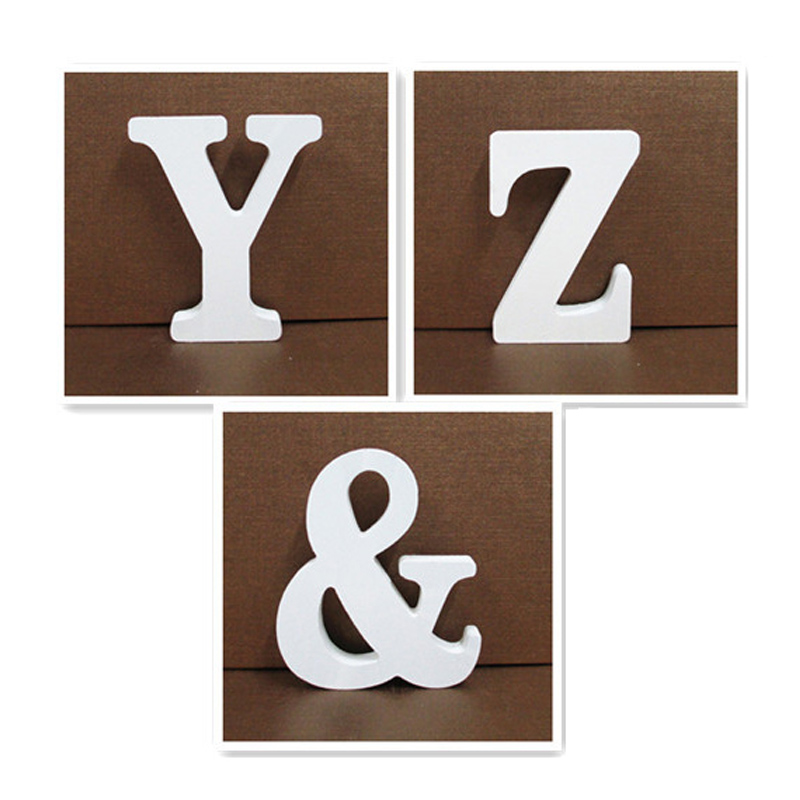 15cm White Wooden Letter English Alphabet DIY Personalised Name Design Art Craft Free Standing Heart Wedding Home Decor