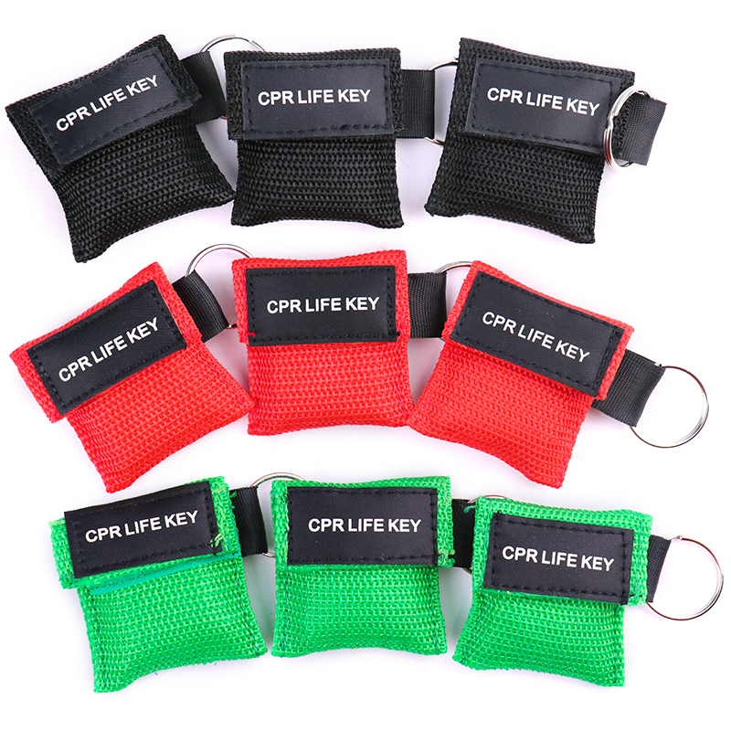 Image 5 - 20pcs 3 Color Medical CPR Resuscitator Mask Keychain First Aid Emergency Face Shield CPR Mask CPR Mask for Outdoor Survival-in Masks from Beauty & Health